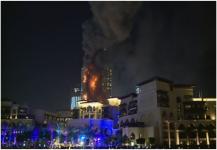 التحرك السريع وراء السيطرة على حريق الفندق في دبي
